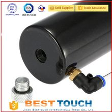 China supplier black round aluminum uel catch tank drain tap 1lt baffled for used mitsubishi l300