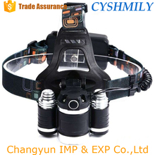3 led t6 18650 rechargeable tactical hunting headlight headlamp led