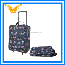 Fashion fancy foldable suitcase trolley bag luggage for a trip
