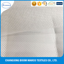 hexagonal polyester small hole stiff mesh fabric for garments