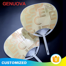 Customized PP fashionable circular hand fan