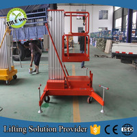 Adjustable lifting ladder vertical man lift