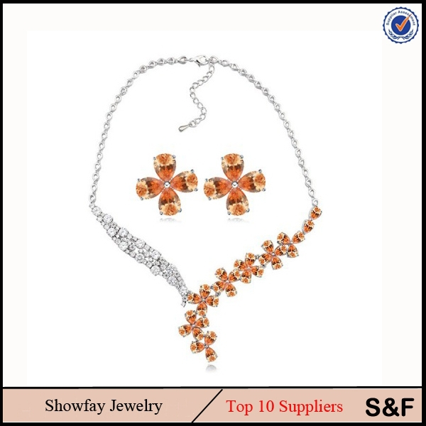 22k Flower Jewelry Set China Manufacturer Jewelry Dulhan Jewellery Set