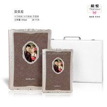 brown color good quality 8x12 leather albums cover with window