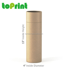 Custom rolled edge kraft brown clothing t shirt packaging tube