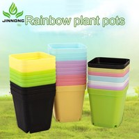 JINNONG garden supplies moving plastic flower pot
