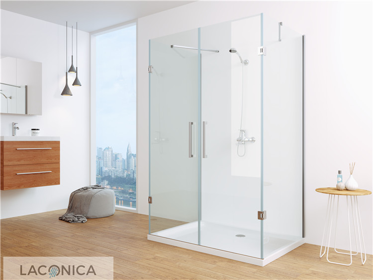 China Wholesale Luxurious 3 Sided Glass Shower Enclosure with CE