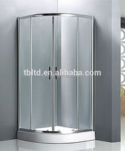 shower room with brushed nickel finish glass
