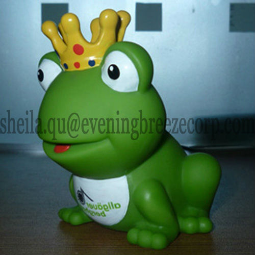 rubber king frog with crown, rubber frog prince bath toy