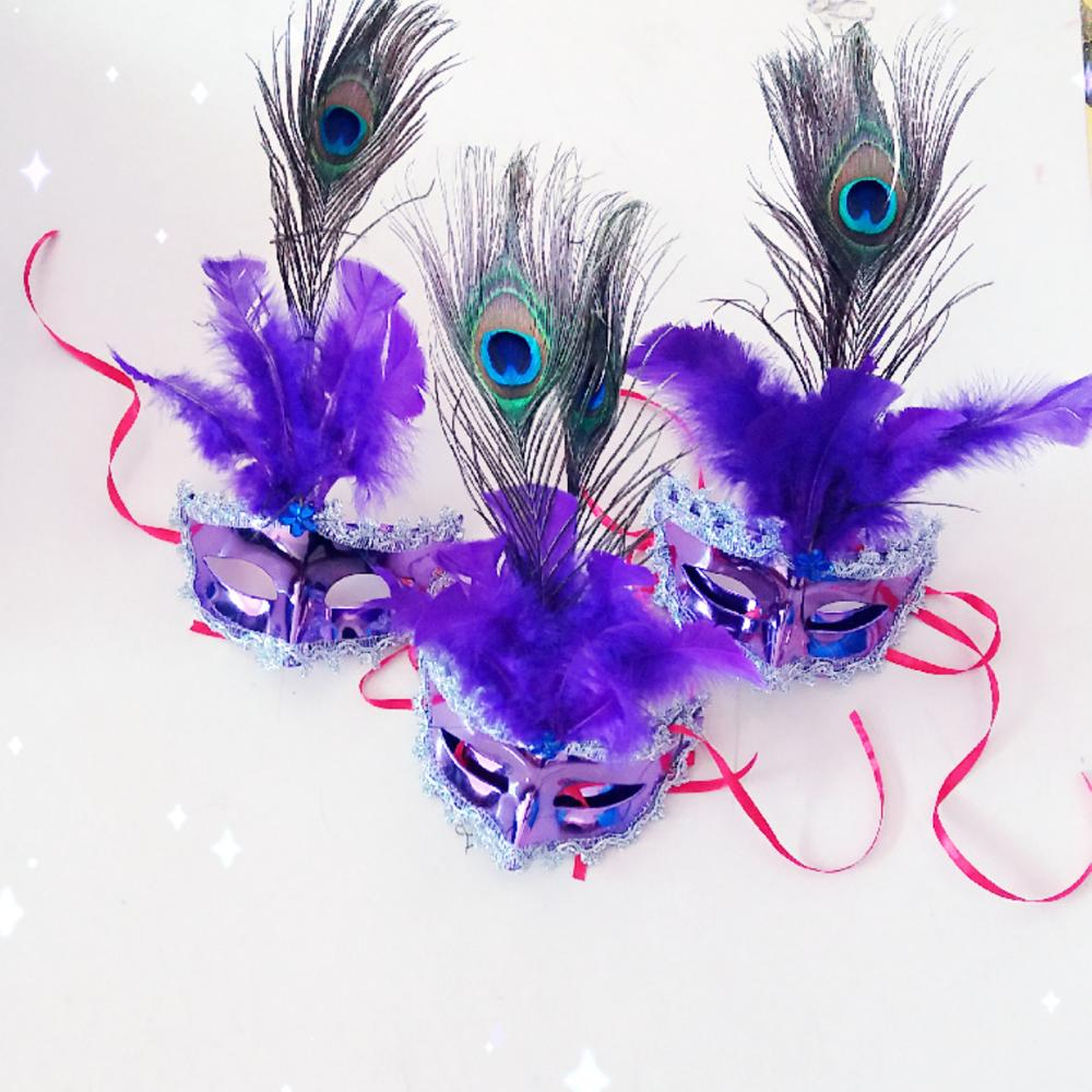 Halloween Christmas New Year Fantastic Party Mask Feather FiberFace Mask