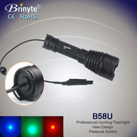 Brinyte waterproof IP68 hunt equipment led rechargeable torch