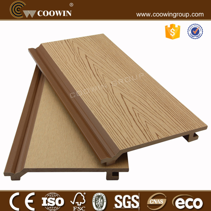 wpc wood siding/waterproof wall panels/wood plastic composite exterior wall cladding
