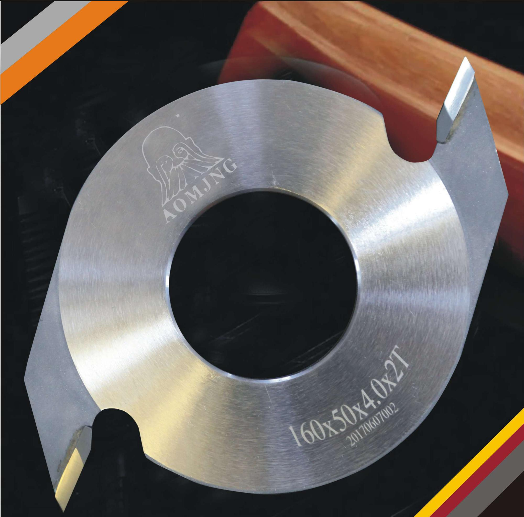 65Mn 2 wings / tooth finger joint cutter for soft wood