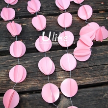 wedding party decorations 3D round paper garland