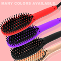 hot selling products digital display wireless hair brush straightener