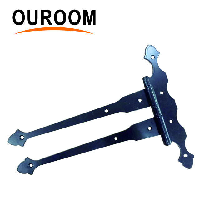 XY912 zhejiang hangzhou china ouroom metal heavy duty double strap hinges shed door acron style hinge
