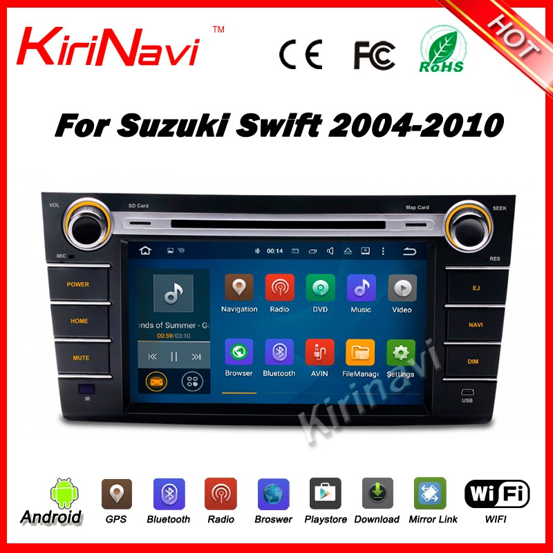 Kirinavi WC-SS8071 android 5.1 car dvd player 2 din car dvd gps for suzuki swift 2004-2010 car navigation dvd wifi 3g bluetooth