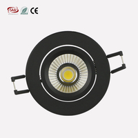 ce saa rohs certified new design Black finish Dimmable Led ceiling lights 75mm Cut-Out hole size 7w cob led downlight
