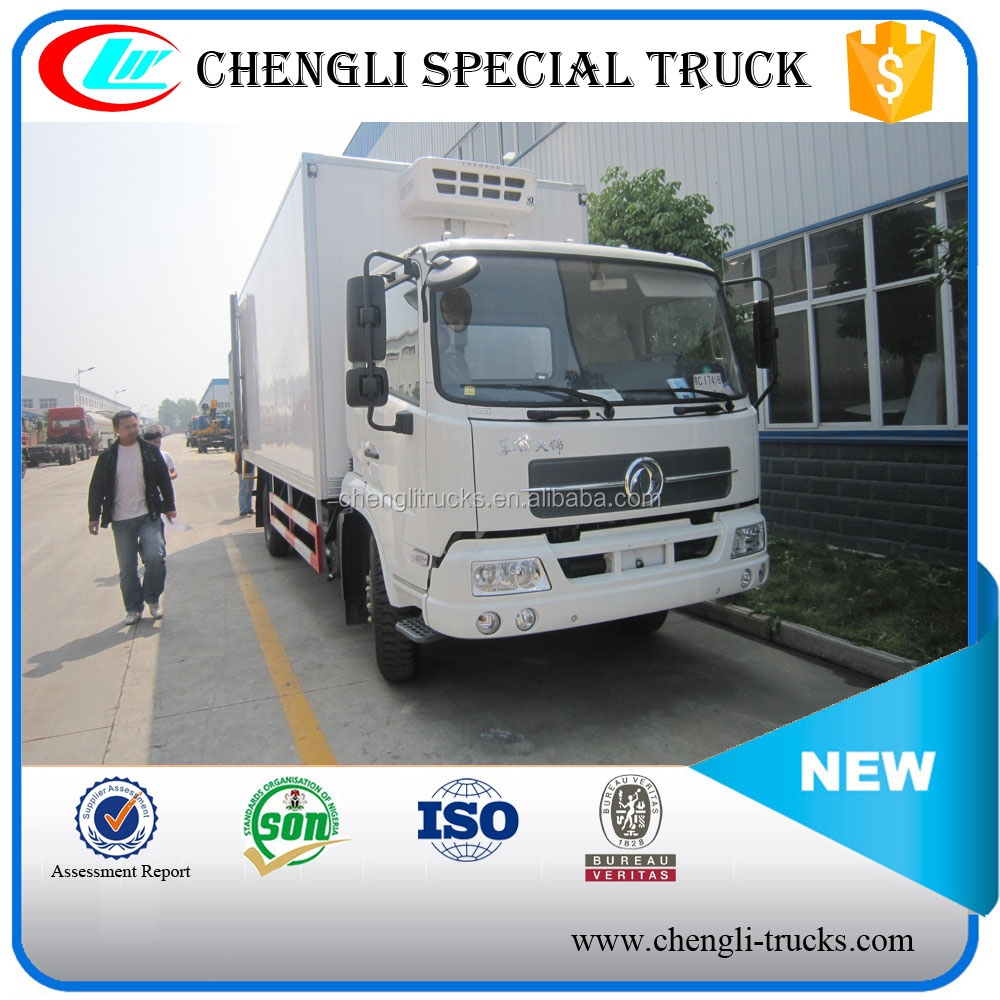 Dongfeng Tianjin 4x2 190HP Refrigerated Van 10 t for icecream transport