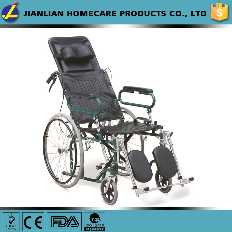 JL handicapped reclining high back manual steel wheelchairs JL902GC