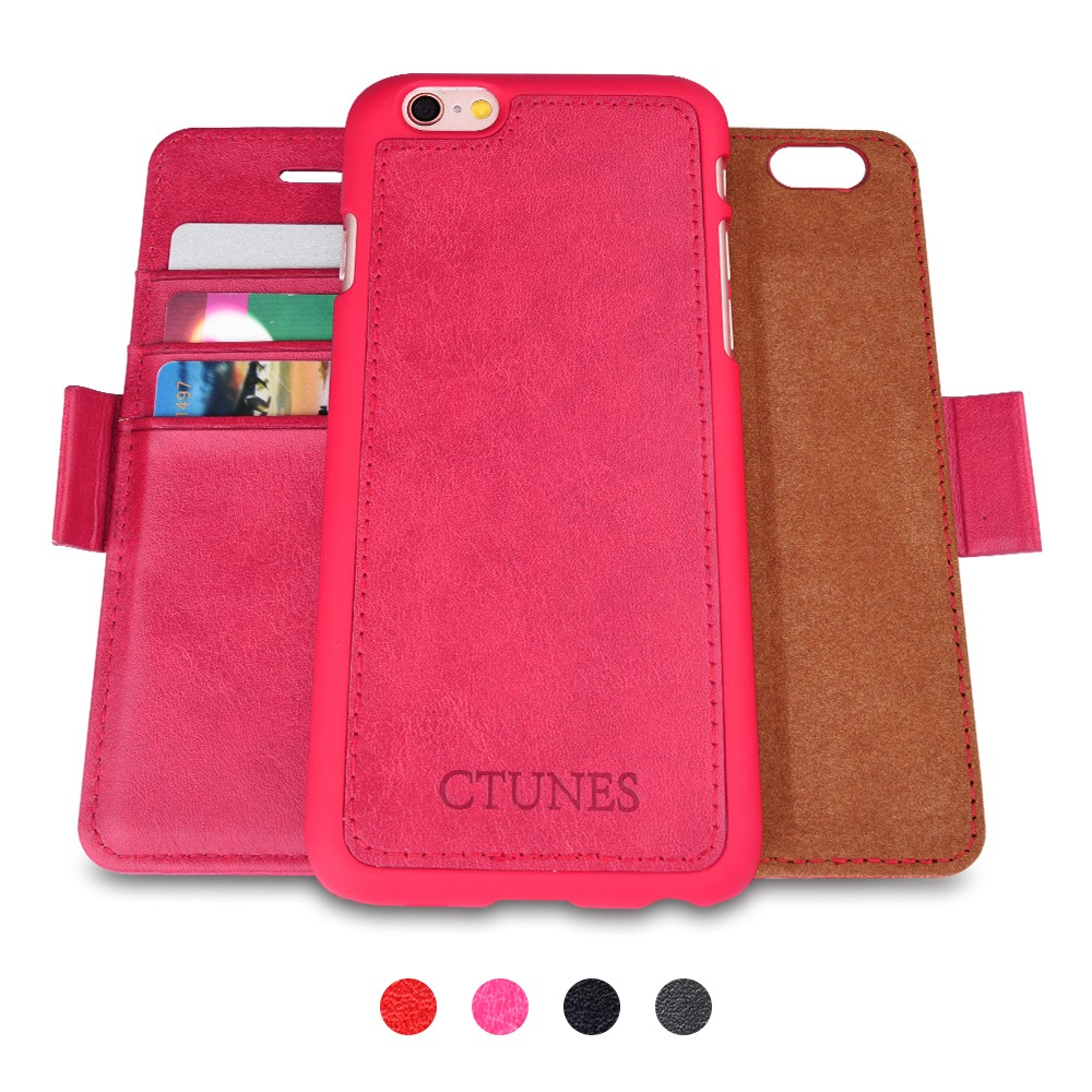 C&T Detachable PU Leather Filp Stand Mobile Phone Case Cover For Iphone 6s