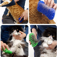 SuperDesign Soft Silicone Rubber Brush for Cats and Dogs, Double Sided Curry Brush, Silicone Pet Brush