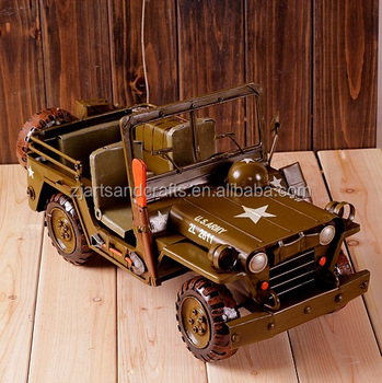 Army vehicle model metal car model for collection