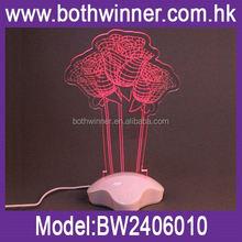 Innovative 3d led night light ,H0T069 child nightlight , custom logo & shape led night lamp