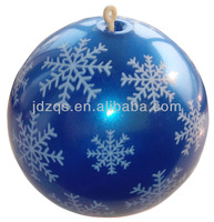 9 inch Snow Printing Christmas Ball