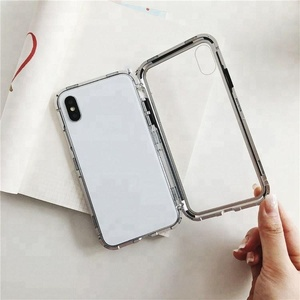 2018 New Hot 360 Degree Full Protective Tempered Glass Flip Case for iPhone Magnetic Phone Case for iPhone X