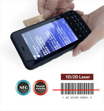 IP65 Waterproof Industrialized rugged rfid reader cell phone with 1d 2D laser barcode reader