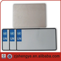 United Nation blank aluminium car license plate
