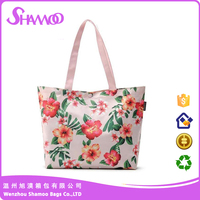 Floral Printing WaterProof Canvas Shopping Tote Bag