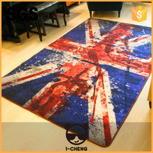 New Design Fashion Vintage Design Carpet The Union Flag Design Living Room Carpet,Shaggy Carpet For Home Decorative