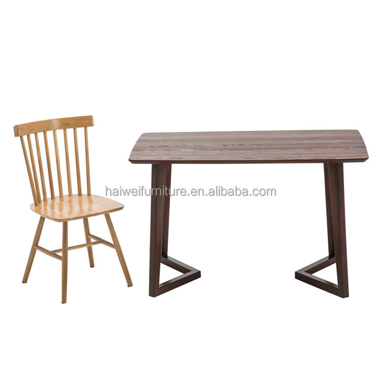 Steel wood top&metal legs dinning table