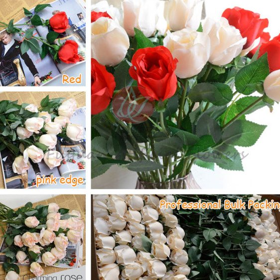 High quality hot sell single artificial rose item cheap rose flower