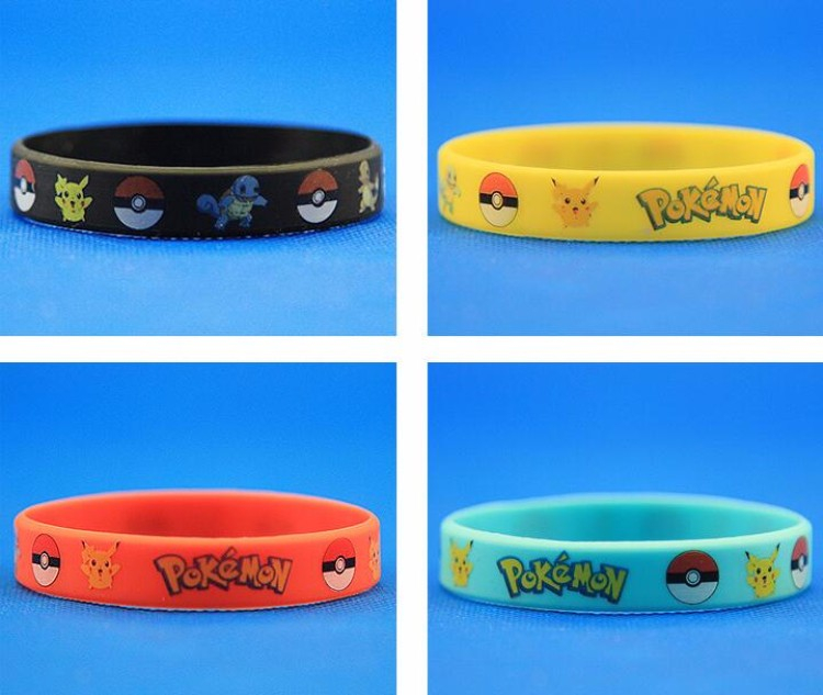 2016 popular phone game Pokemon go silicon bracelet wholesale