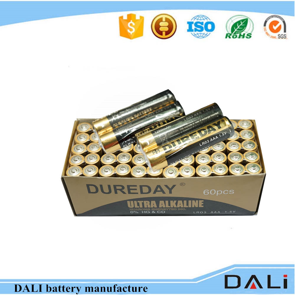 Safe battery LR03 aaa 1.5v alkaline battery for wireless mouse