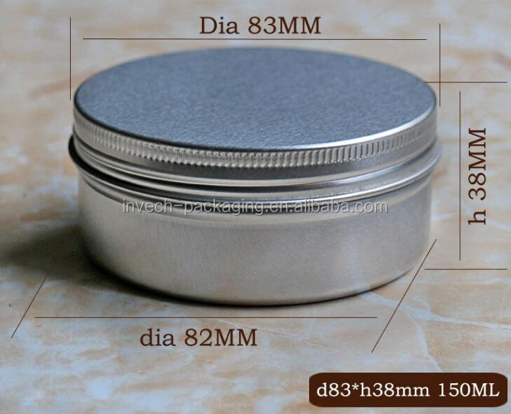 screw top aluminum can for protein powder,aluminum cosmetic packaging tin box 40gram