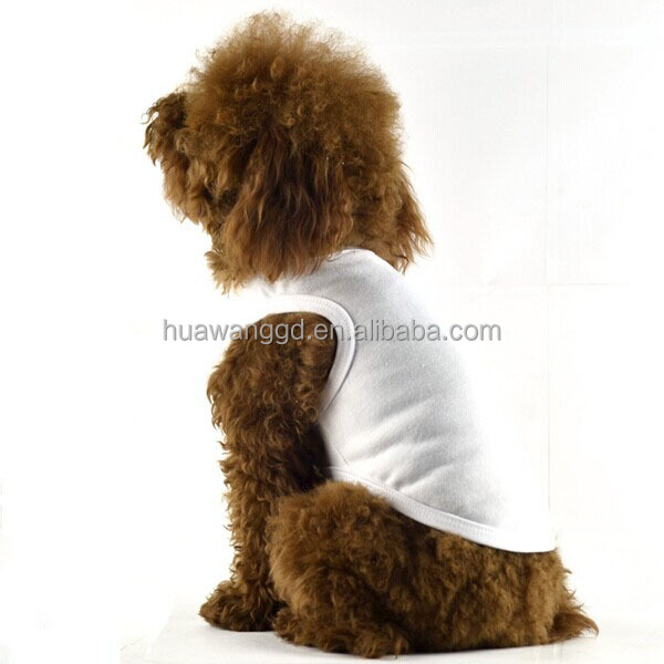 Popular plain pet dog shirt, plain white dog t-shirts, plain dog t-shirt