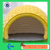 Yellow inflatable cube tent, inflatable air tent camping with dome