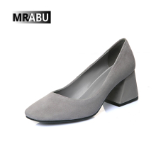 High heel Lady elegant pumps Women shoes chunky heels wholesale ladies footwear pictures