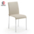 good quality leather dining chair with metal chrome frame