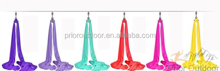 Wholesale High Strength 900KGS Aerial Silks Equipment,Yoga Hammock,Provide the full set accessories(see 18 colours)