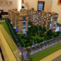 Building model for land developer, Lighting Scale Model For Singapore Real Estate Company