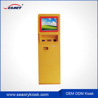 2016 new modern kiosk design/self service 17 inch touch screen kiosk machine with mayfair card reader