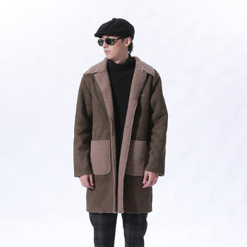MS70953G New arrival men winter sueded fabric coats