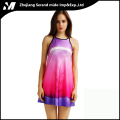 Selling Printing Women casual Sexy night Digital Tank Dress
