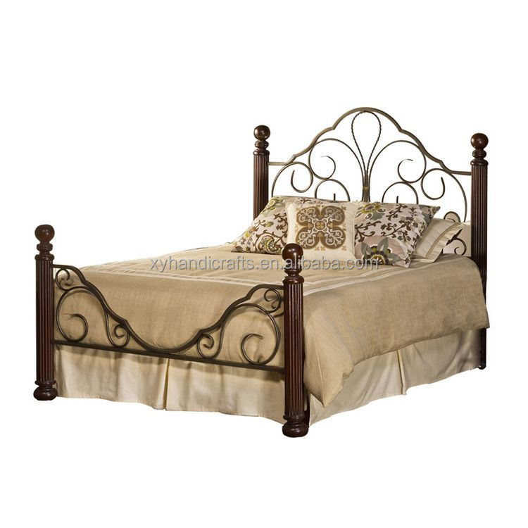 Best selling european classic strong metal iron bed