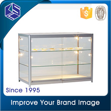 Nice looking full vision aluminum frame glass display cabinet for sale
